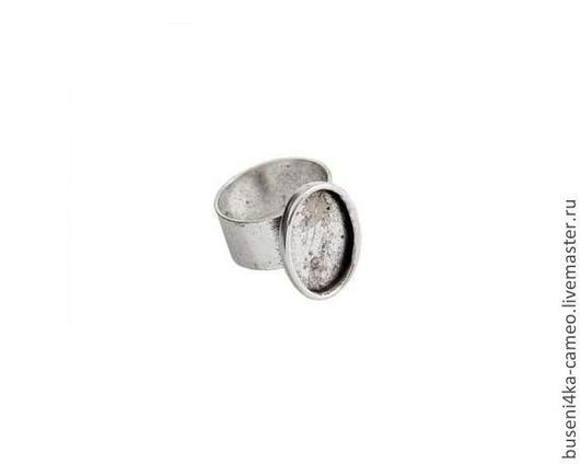 Для украшений ручной работы. Ярмарка Мастеров - ручная работа. Купить Основа для кольца Гладкая 13х18мм, ND античное серебро. Handmade.