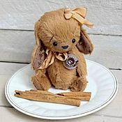 Куклы и игрушки ручной работы. Ярмарка Мастеров - ручная работа Кофе с корицей. Зайчик тедди. Handmade.