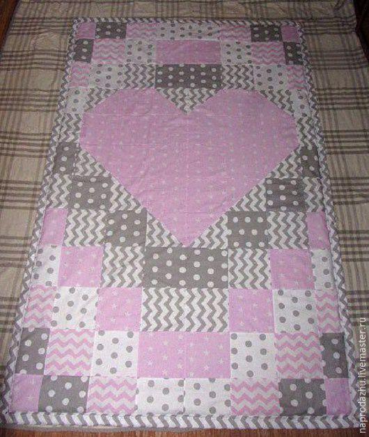 Текстиль, ковры ручной работы. Ярмарка Мастеров - ручная работа. Купить Лоскутное одеяло Сердце 130 на 200 см. Handmade.