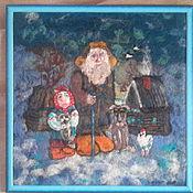 Картины и панно ручной работы. Ярмарка Мастеров - ручная работа картина Деревенский пейзаж. Handmade.