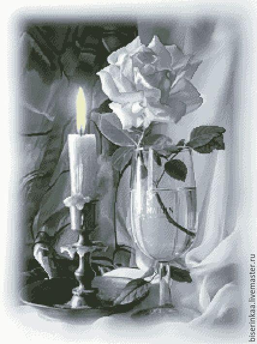 Схема для вышивания чешским бисером `Романтический ужин`