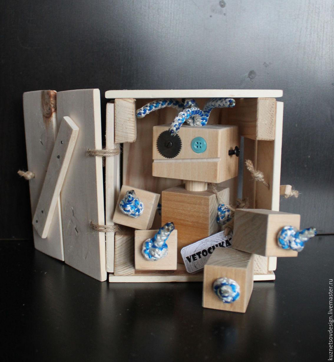 Человечки ручной работы. Ярмарка Мастеров - ручная работа. Купить Робот деревянный # 3. Handmade. Бежевый, человечек