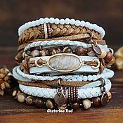 Украшения handmade. Livemaster - original item BOHO-chic leather wristband