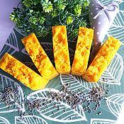 Мыло ручной работы. Ярмарка Мастеров - ручная работа Натуральное мыло с нуля детское Морковный фреш для детей желтый. Handmade.
