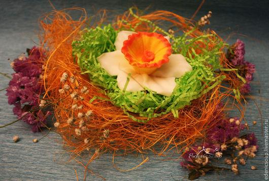 Подарочное мыло ручной работы. Подарки к 8 марта. Мыло-цветы.