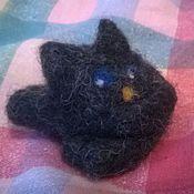 Куклы и игрушки ручной работы. Ярмарка Мастеров - ручная работа Звездная ночь в глазах черного кота. Handmade.