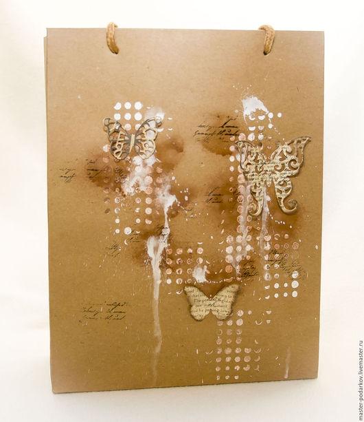 """Упаковка ручной работы. Ярмарка Мастеров - ручная работа. Купить Пакет подарочный """"Бабочки"""". Handmade. Пакет подарочный, упаковка"""