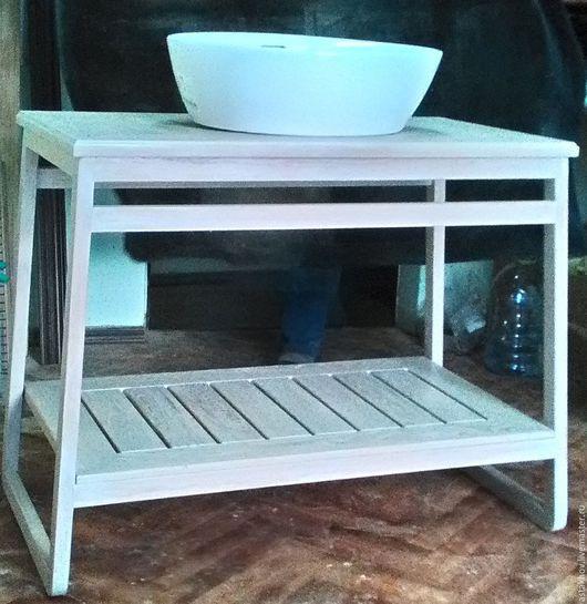 мебель на заказ, мебель из дуба, подстолье для раковины