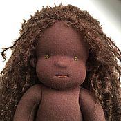 Вальдорфские куклы и звери ручной работы. Ярмарка Мастеров - ручная работа Вальдорфская кукла 35см африканка. Handmade.