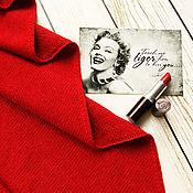 Аксессуары ручной работы. Ярмарка Мастеров - ручная работа Вязаная косынка из мериноса и кашемира lady in red. Handmade.