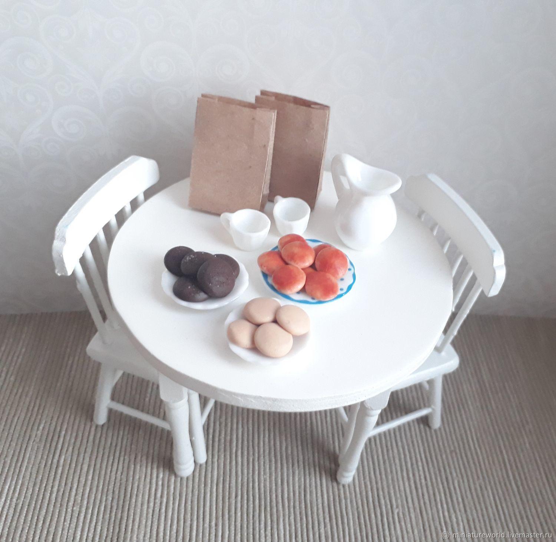Миниатюра ручной работы. Ярмарка Мастеров - ручная работа. Купить Печенье в пакете 1:12. Handmade. Коричневый, кукольная миниатюра