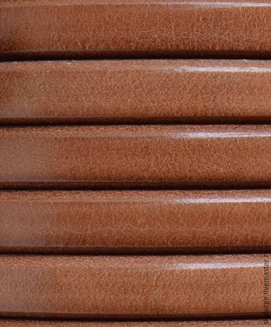 Для украшений ручной работы. Ярмарка Мастеров - ручная работа. Купить Кожаный шнур РЕГАЛИЗ, LUX, 10x6 мм, молочный шоколад. Handmade.
