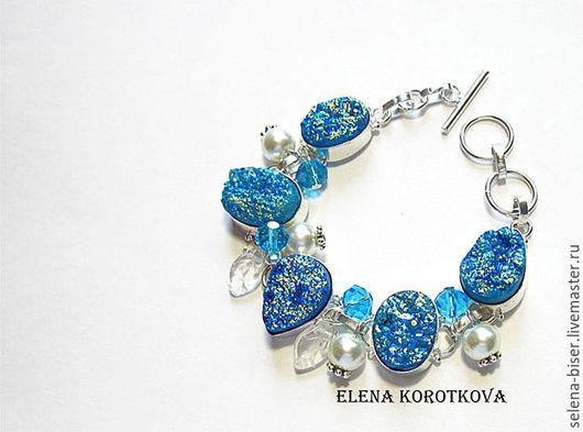 браслет купить недорого  авторский браслет  синий браслет  синее украшение  синяя бижутерия  украшение в питере  бижутерия в спб  недорогой браслет  натуральный браслет  натуральные камни  камни ква