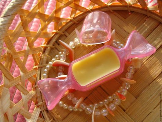 """Бальзам для губ ручной работы. Ярмарка Мастеров - ручная работа. Купить БАЛЬЗАМ ДЛЯ ГУБ """"КОНФЕТКА"""". Handmade. Желтый"""
