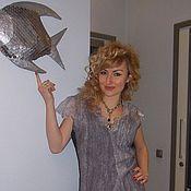 "Одежда ручной работы. Ярмарка Мастеров - ручная работа Туника валяная ""Рыбка моя"". Handmade."