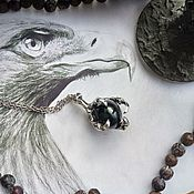 Фен-шуй и эзотерика handmade. Livemaster - original item Hawk`s Paw Amulet with Obsidian. Handmade.