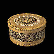 Для дома и интерьера handmade. Livemaster - original item Box of birch bark large round