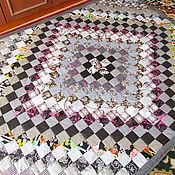 """Для дома и интерьера ручной работы. Ярмарка Мастеров - ручная работа Лоскутное покрывало """" Оникс"""". Handmade."""