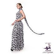 Одежда ручной работы. Ярмарка Мастеров - ручная работа Платье-трансформер стрейч безразмерное Снежный Барс в 30 вариантах. Handmade.