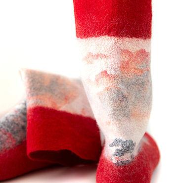 Footwear handmade. Livemaster - original item Felted socks handmade. Handmade.