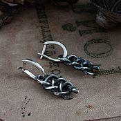 Украшения handmade. Livemaster - original item Snake Earrings. Witcher Earrings. The Witcher silver. Handmade.