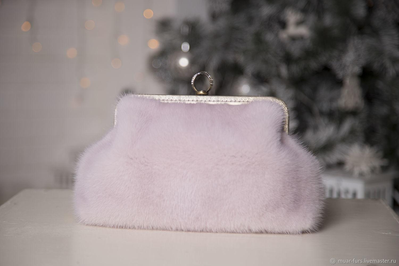 Clutch mink. Handbag made of mink fur. Mink bag. Fur clutch bag, Clutches, Kirov,  Фото №1