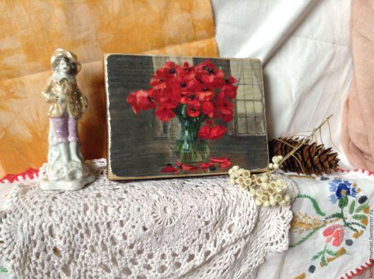 Картины цветов ручной работы. Ярмарка Мастеров - ручная работа. Купить Маки. Handmade. Мак, маки в вазе, букет цветов