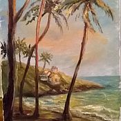 Картины и панно ручной работы. Ярмарка Мастеров - ручная работа Берег Индии. Handmade.