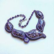 Украшения handmade. Livemaster - original item Beaded necklace sylphid Embroidery with beads. Handmade.