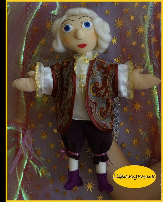 """Кукольный театр ручной работы. Ярмарка Мастеров - ручная работа. Купить Кукла-перчатка Дроссельмейер """"Щелкунчик и мышиный король"""". Handmade."""