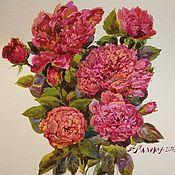 Картины и панно ручной работы. Ярмарка Мастеров - ручная работа Парковые розы. Handmade.