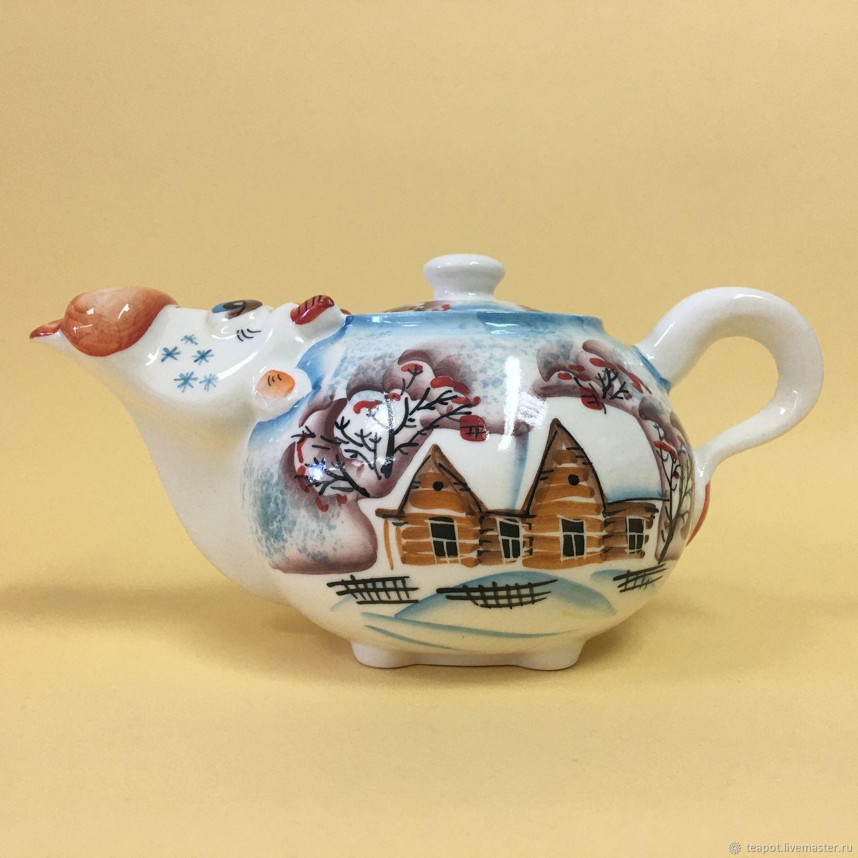 Kettle Cow Mu-mu Winter, Teapots & Kettles, Moscow,  Фото №1