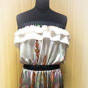Одежда handmade. Livemaster - original item Silk dress for summer holidays. Handmade.