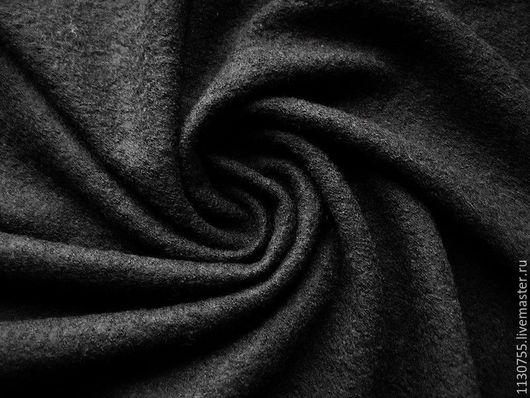 Шитье ручной работы. Ярмарка Мастеров - ручная работа. Купить лоден ( вареная шерсть) Италия. Handmade. Черный