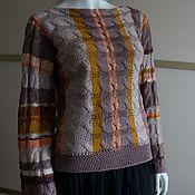 Одежда ручной работы. Ярмарка Мастеров - ручная работа Джемпер р.44-48 бохо коричнево-бежевый. Handmade.