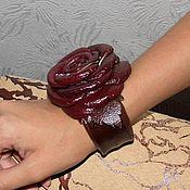 """Украшения ручной работы. Ярмарка Мастеров - ручная работа браслет из кожи """"Валя"""". Handmade."""