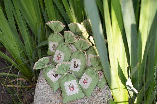 """Релаксация, ароматерапия ручной работы. Ярмарка Мастеров - ручная работа. Купить Саше с лавандой """" На счастье"""". Handmade. Зеленый"""