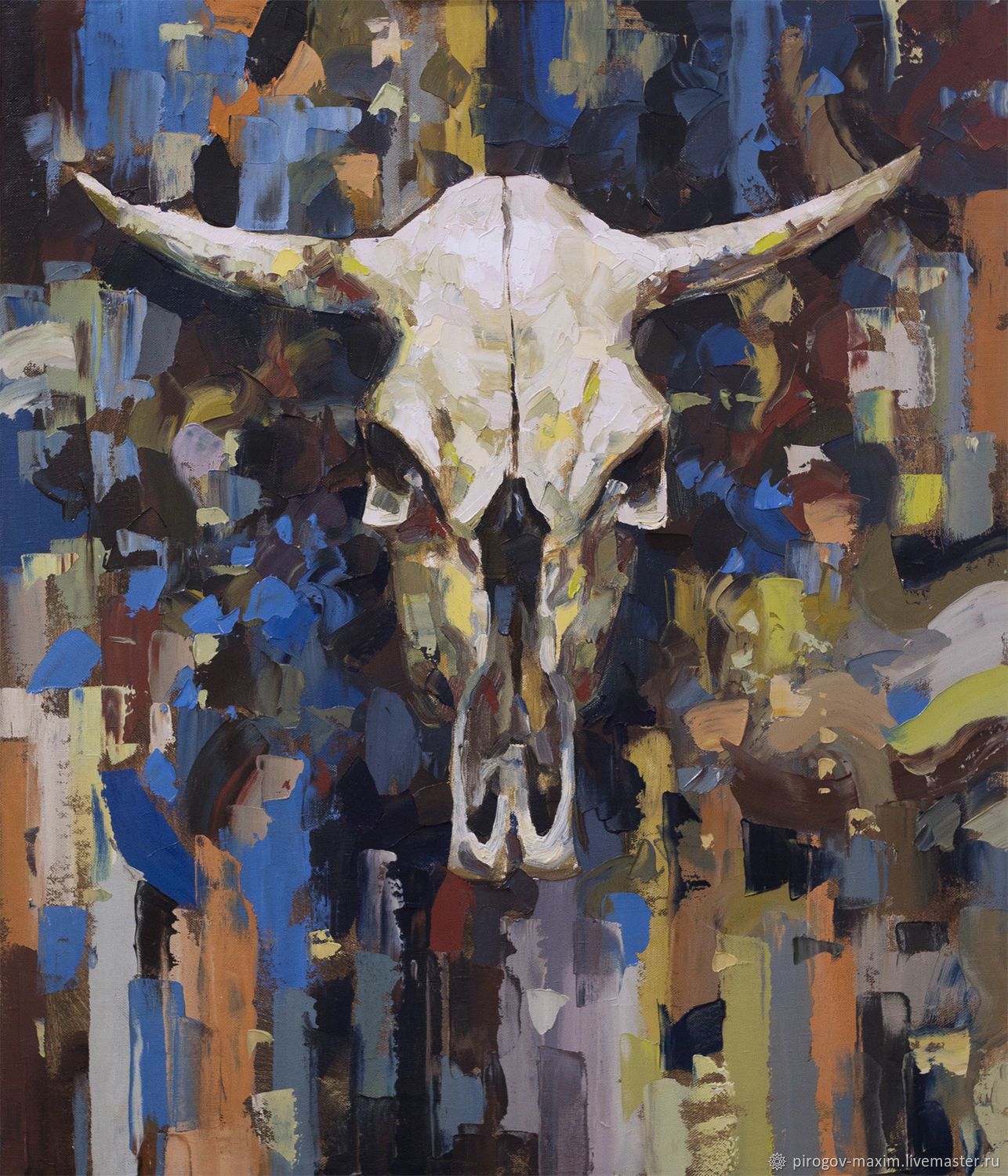 Interior painting with oil paints with a skull. Painting the skull of a cow, Pictures, Samara,  Фото №1