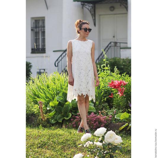 """Платья ручной работы. Ярмарка Мастеров - ручная работа. Купить Платье""""Летнее утро"""". Handmade. Белый, красивое платье, нарядное платье"""