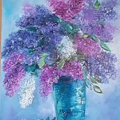 Картины и панно handmade. Livemaster - original item Oil painting flowers 80/50