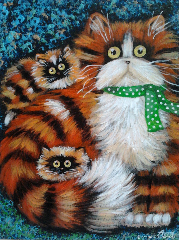Мастер класс коты акрилом