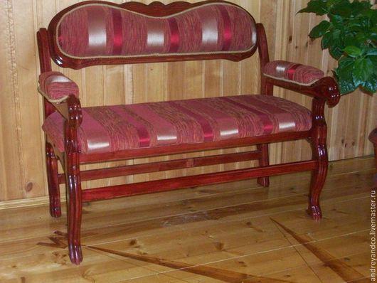 Мебель ручной работы. Ярмарка Мастеров - ручная работа. Купить банкетка. Handmade. Бордовый, мебель для дачи, диван, Мебельная ткань
