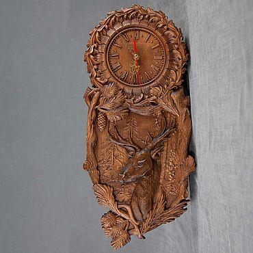 Для дома и интерьера ручной работы. Ярмарка Мастеров - ручная работа Часы: Олень. Handmade.