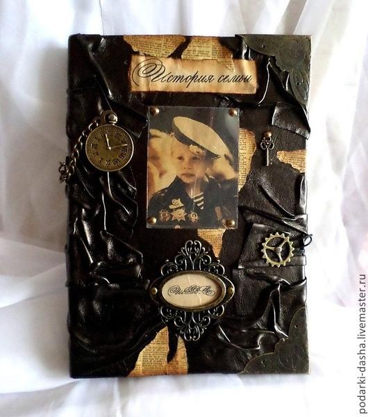 """Подарочные наборы ручной работы. Ярмарка Мастеров - ручная работа. Купить Кожаная именная мужская книга """"История семьи"""". Handmade."""
