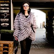 Одежда ручной работы. Ярмарка Мастеров - ручная работа Чернобурка на шёлке укороченная.. Handmade.