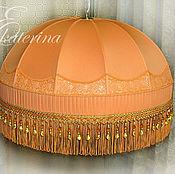 Для дома и интерьера ручной работы. Ярмарка Мастеров - ручная работа Подвесной абажур, люстра. Оранжевый. Handmade.