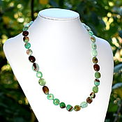 Украшения handmade. Livemaster - original item Black Friday Beads made of natural chrysoprase. Handmade.