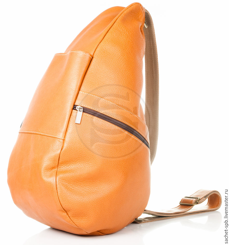 Leather backpack 'Drop' red, Backpacks, St. Petersburg,  Фото №1