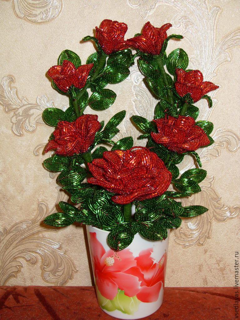 Цветы из бисера рубки