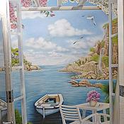 Картины и панно ручной работы. Ярмарка Мастеров - ручная работа Море, аэрография. Handmade.